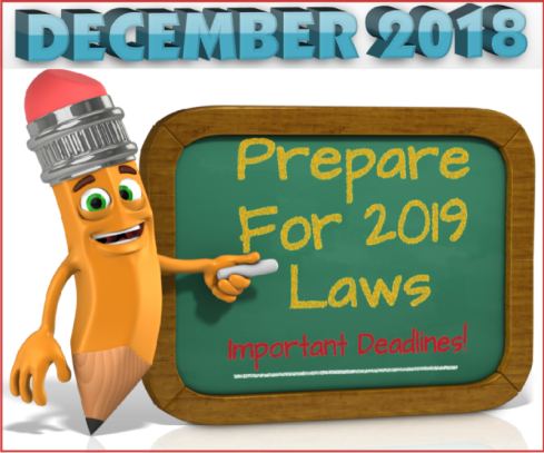Prepare for 2019 Laws-Dec