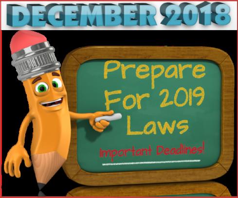 Prepare for 2019 Laws-Dec